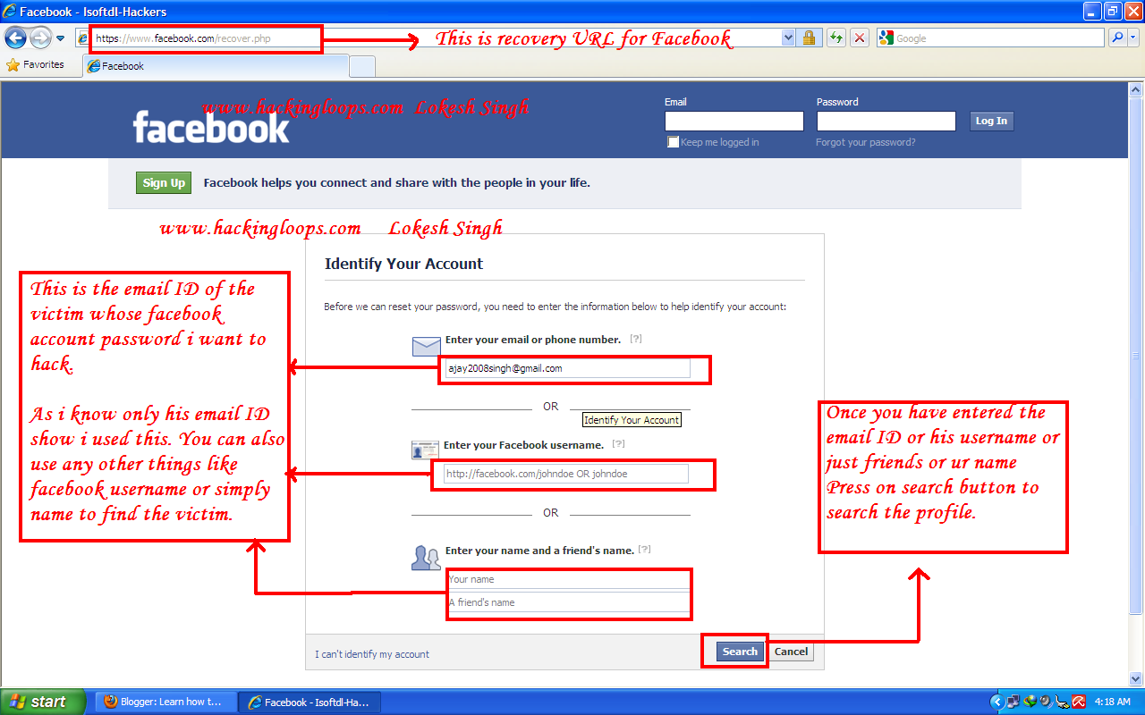 How to hack someones facebook account virtualspotx learn how to hack facebook account password ccuart Choice Image
